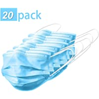 3 ply Filter Layer Disposable Face Mask with Elastic Ear Loop, Non-Woven Protective Dust Mask