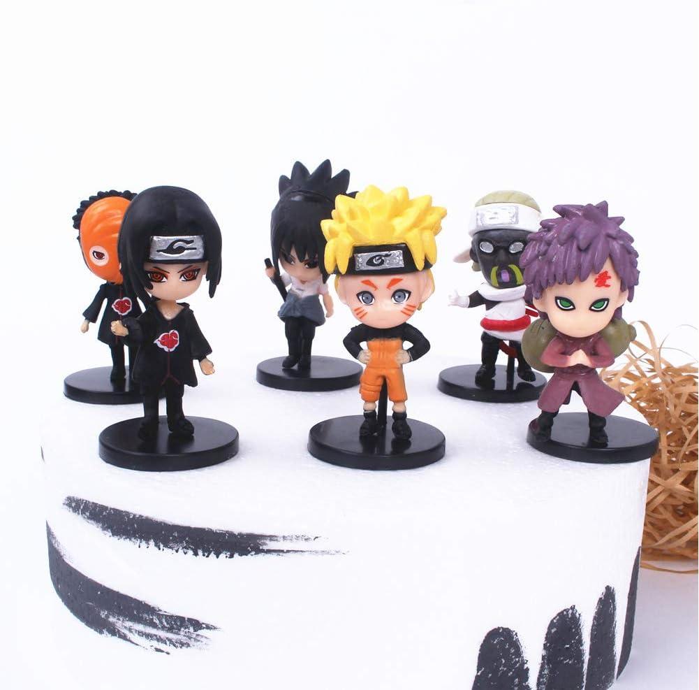 naruto cake topper Action Figure Anime 6 Styles Action Figure Ninja Model Toy naruto cake decorations