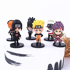 naruto cake topper Action Figure Anime 6 Styles Action Figure Ninja Model Toy naruto cake decorations