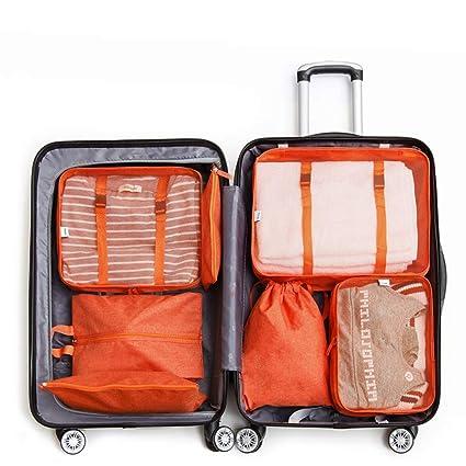 9b6007cc7e55 FairOnly 7Pcs/Set Travel Bags Set Portable Clothing Sorting ...