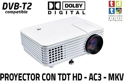 proyector con TDT Luximagen SV100 Blanco con TDT HD, USB, HDMI ...
