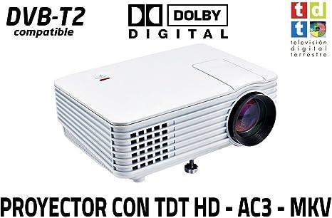 proyector con TDT Luximagen SV100 Blanco con TDT HD, USB, HDMI, VGA, AC3, 2 años de garantía: Amazon.es: Electrónica