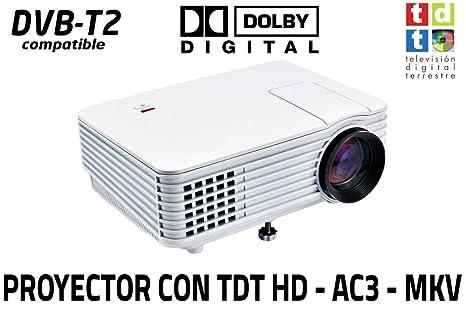 proyector con TDT Luximagen SV100 Blanco con TDT HD, USB, HDMI, VGA,