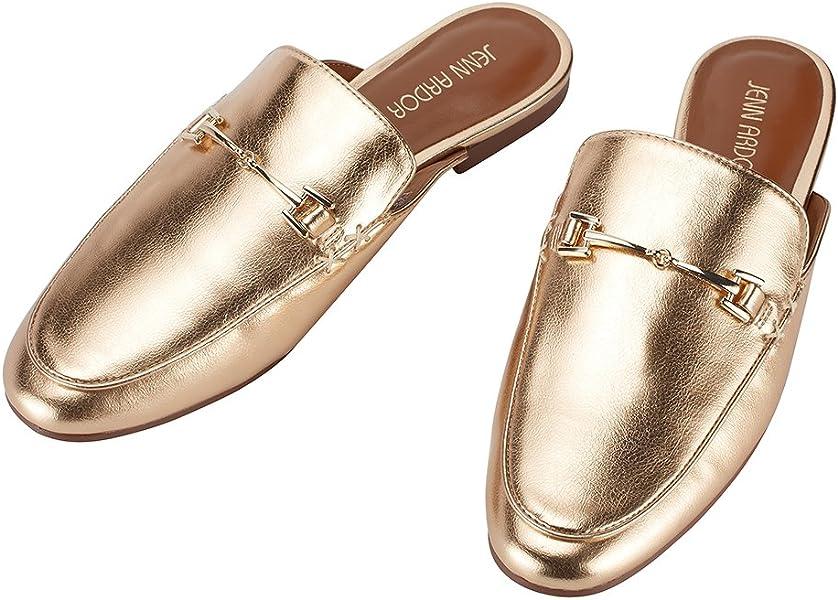 af83579f56ef5 Women's Mule Flats Shoes Pointed Toe Backless Slipper Slip On Loafer Shoes