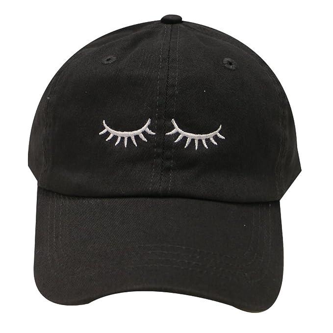 City Hunter C104 Eyelashes Cotton Baseball Cap 14 Colors (Black) at ... ee05bccc49f