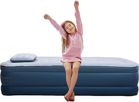 Amazon.com: Colchón de aire elevado, doble altura, cama ...