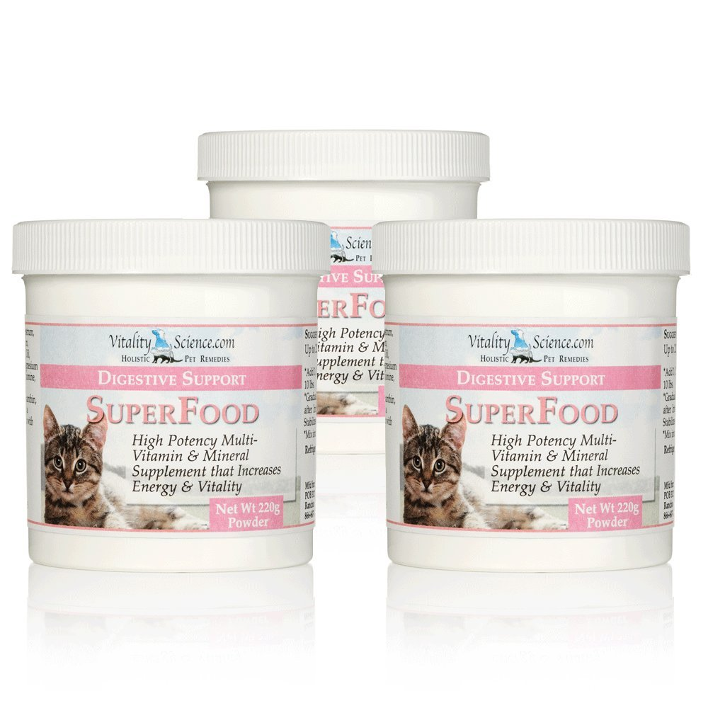 Super Food for Cats - Multi-Vitamin and Mineral Supplement by Vitality Science