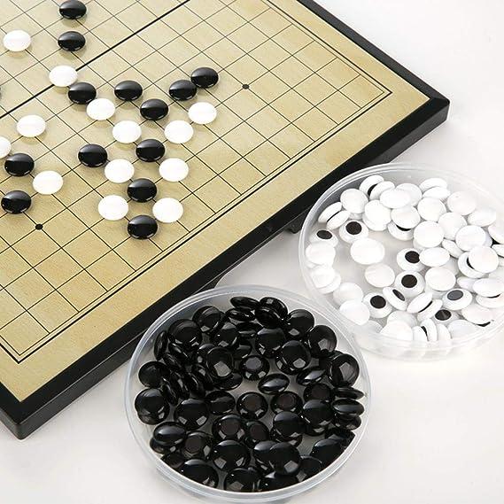 Go & Go Bang - Juego de Estrategia, Juegos de ajedrez Go, Juegos de ajedrez de cerámica Juego de Mesa fantástico Juegos de Viaje para Principiantes y Jugadores de Go: Amazon.es: Deportes