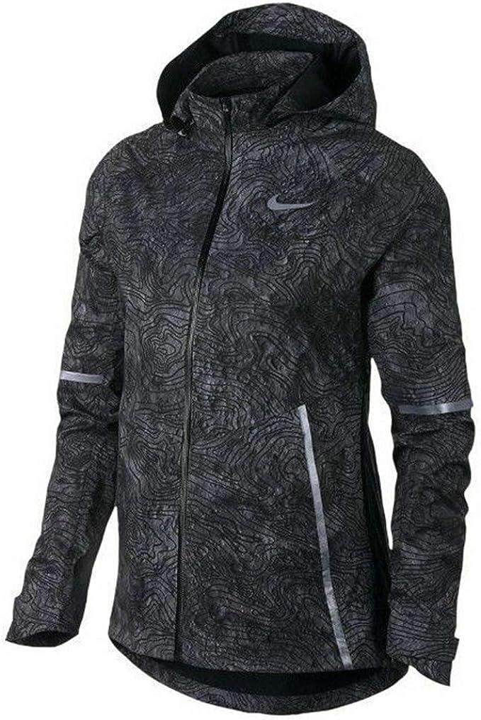Cita jardín Inconsciente  Amazon.com: Nike Shield Women's Zonal Aeroshield Solstice Flash Reflective  Running Jacket Black 876833 010 (xs): Clothing
