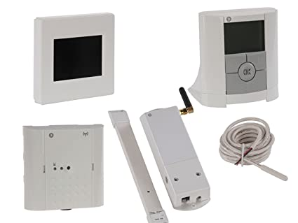 Unidad Central con termostato, receptor, módulo GSM y sonda de suelo, sistema de