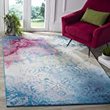 Safavieh Water Color Collection WTC620G Light Blue and Light Yellow Area Rug, 8′ x 10′