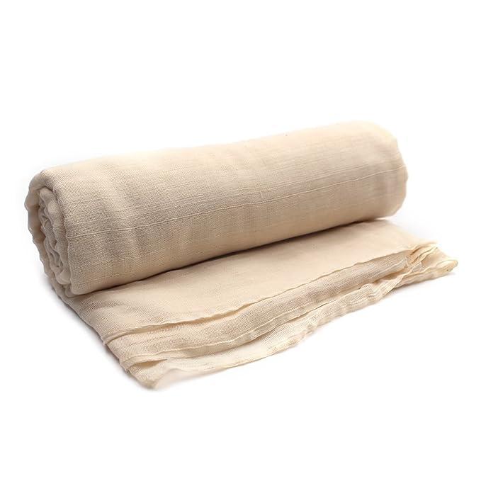 ... algodón sin blanquear - Reutilizable todos los usos colador de alimentos y filtro de café frío - bolsa de leche de tuercas 7 Yards: Amazon.es: Hogar