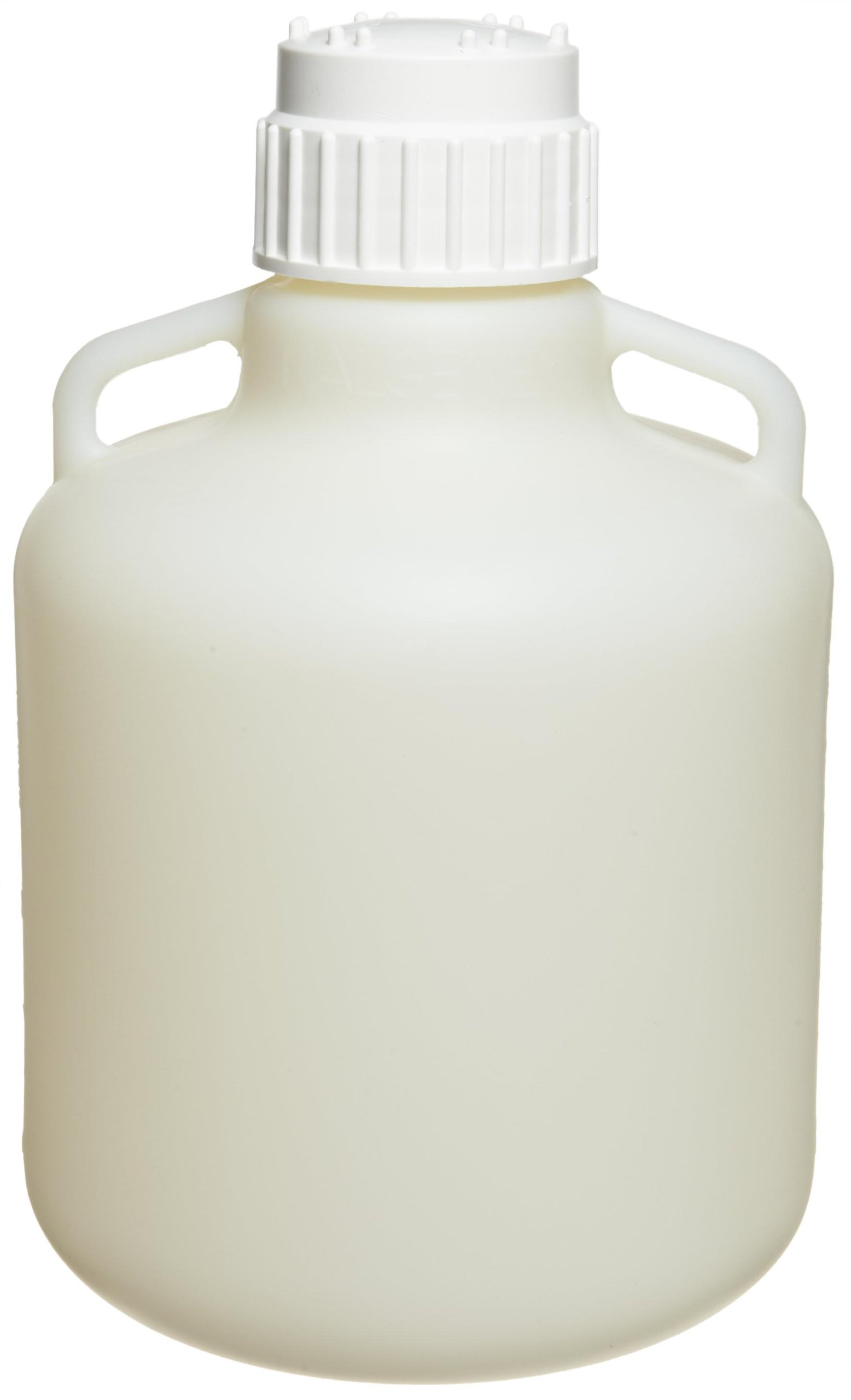 Nalgene 2097-0020 Fluorinated HDPE Carboy with Handle and Polypropylene Screw Closure, 10L Capacity