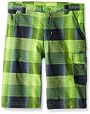 Columbia Boys Silver Ridge Printed Shorts, Cyber Green Plaid, Large