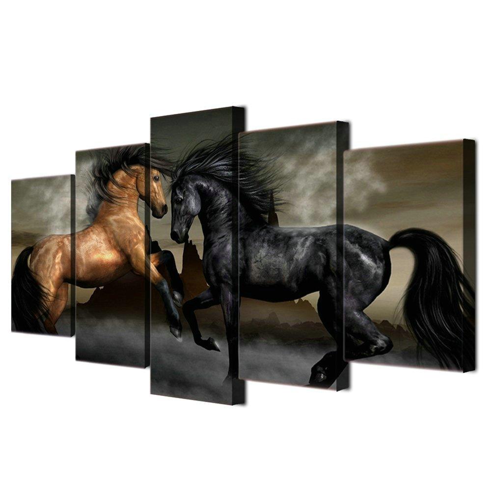 LwqArt Pferde Poster und Drucke Moderne Landschaftsmalerei Bilder ...