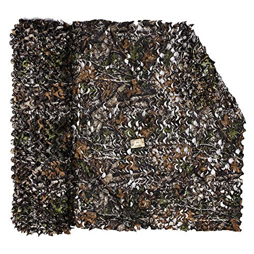 LOOGU Camouflage Net Camo Netting Blinds for Shooting Hunting Camping (Bionic Maple Leaf 1, 1.5x8M=5x26.2ft) Camo Hunting Leaf Blind Material
