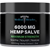 Medical Miracles Hemp 6000 Mg Maximum Strength Healing Salve | 100% Natural Cream Relieves Inflammation, Muscle, Joint…
