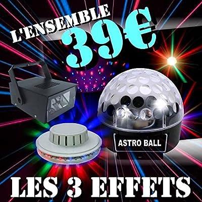 Ibiza Light – Pack DJ LED con 1 bola Astro LED RGB + 1 UFO LED + 1 ...