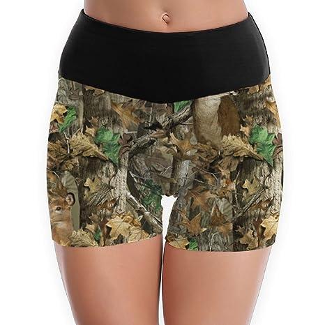3ead4652b7a Amazon.com : Camo Deer Camouflage Hunting Yoga Shorts For Women ...