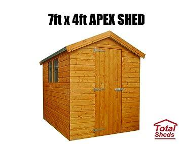 7 pies (M) X 4 pies (1.2 M) cobertizo cobertizo caseta de jardín caseta de madera total cobertizos: Amazon.es: Jardín