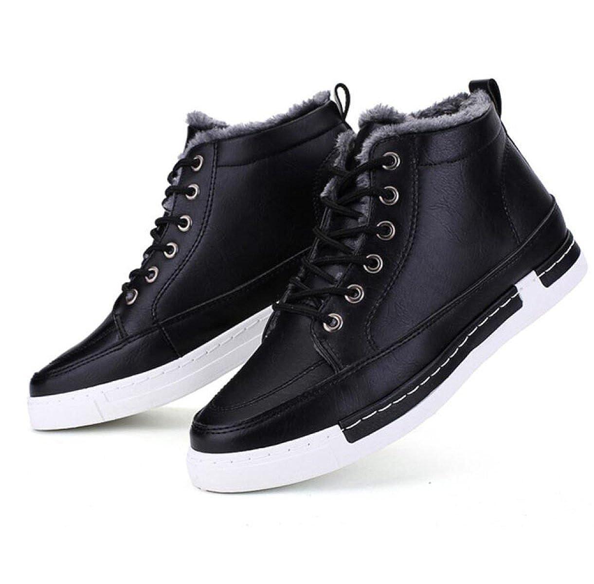 Winter Männer Plus Kaschmir Warm Baumwolle Schuhe Koreanische Version Studenten Schuhe Hohe Hilfe Casual Board Schuhe Studenten schwarz a55e3e