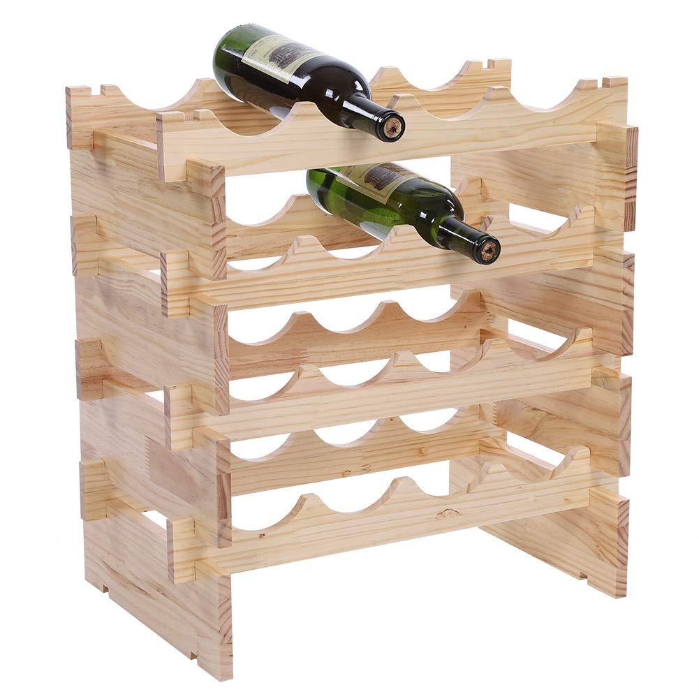 Zerone Scaffale di Vino Portavino in Legno