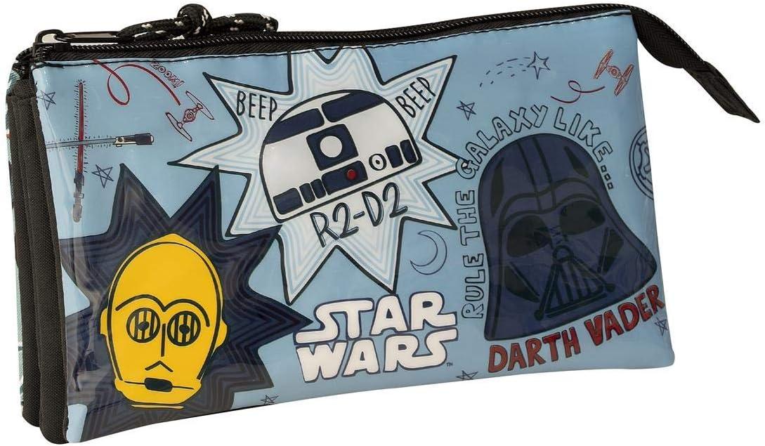SAFTA 811941744 Estuche portatodo Triple Escolar Star Wars: Amazon.es: Equipaje