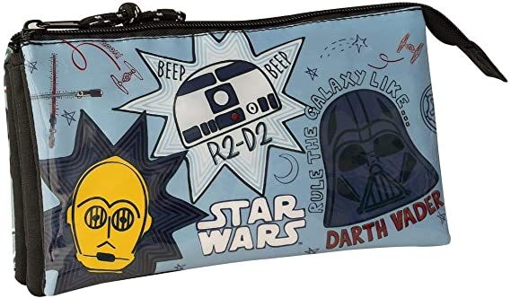 SAFTA 811941744 Estuche portatodo Triple Escolar Star Wars: Amazon.es: Equipaje