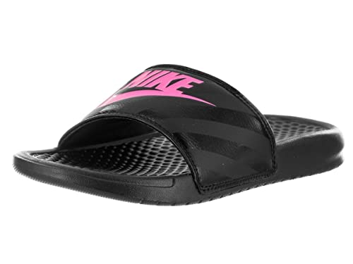 75bc95bfb945 Nike Women s Benassi JDI Swoosh Slide Sandal (5)  Amazon.ca  Shoes ...