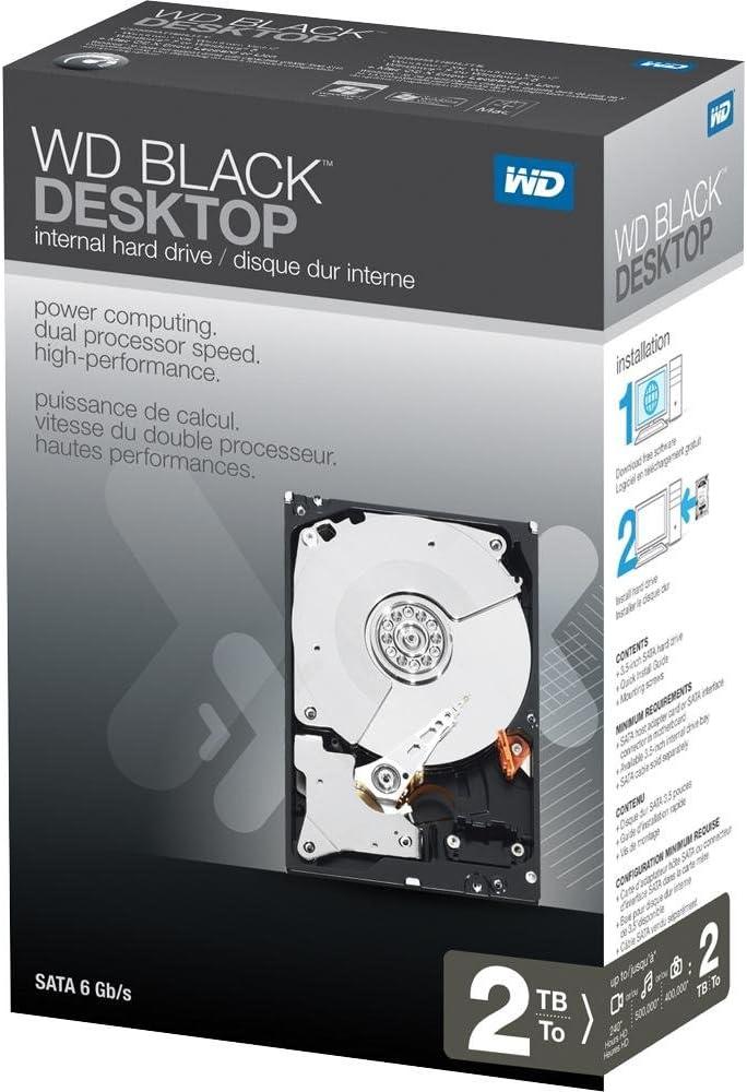 WD Black Desktop 2TB SATA 6.0 GB/s 7200 RPM 3.5-Inch Internal Desktop Hard Drive Retail Kit