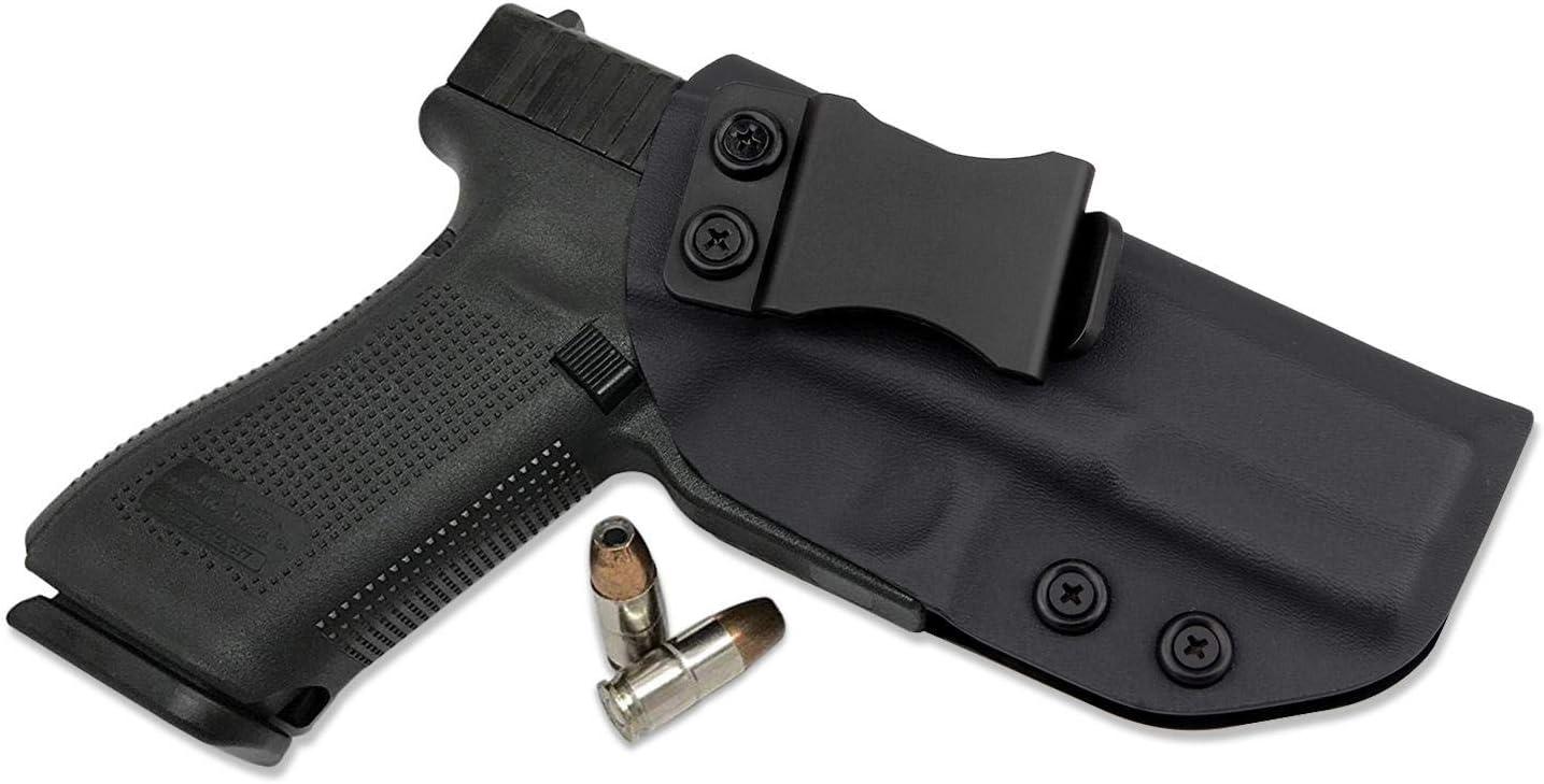 Kosibate IWB KYDEX Holster, se Ajusta a Glock 17 22 31 Interior de la Cintura Pistola Oculta Carcasa Pistola Derecha Dibujar