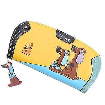 Cartera de piel sintética para mujer, diseño colorido, de piano y con soporte para tarjetas; de Vandot: Amazon.es: Electrónica