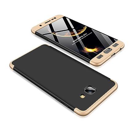 Bounceback ® Samsung Galaxy J7 Max Case 3 in1 360º Anti Slip Super Slim  Back Cover for Samsung Galaxy J7 Max/On Max (Gold)