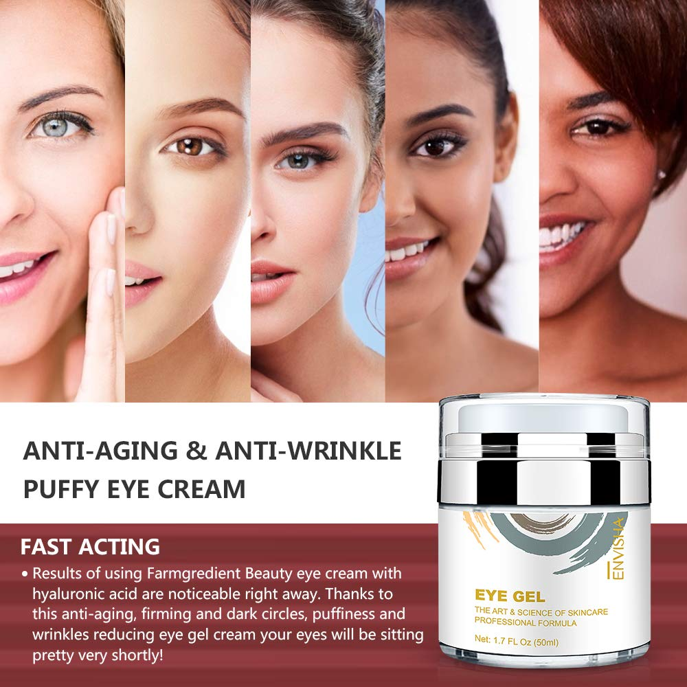Amazon Com Wumal Eye Cream For Dark Circles Fine Lines Puffiness Wrinkles And Bags Effective Anti Aging Eye Gel Under And Around Eyes Hydrating Firming Rejuvenates Skin Beauty