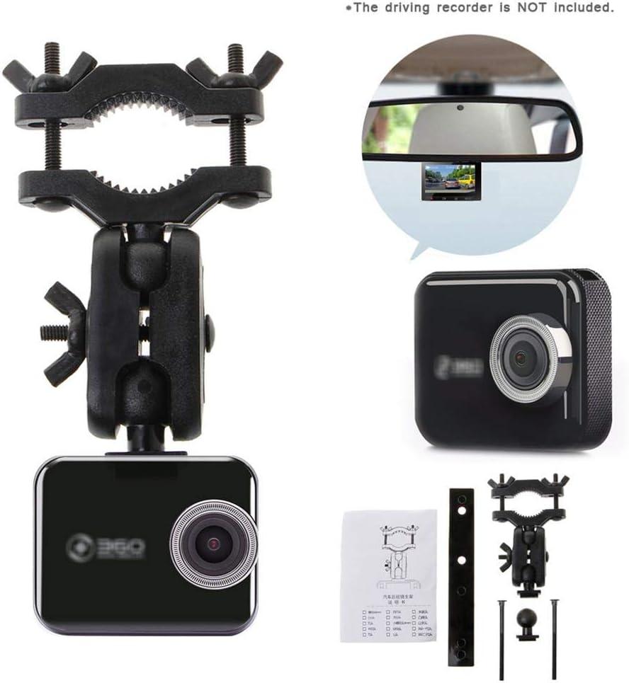 dissylove Rearview Mirror Driving Recorder Bracket Holder 360 Degrees Rotating 360 J501C Dash Car DVR Camera(Metal Blind Nut)