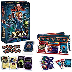 Captain Marvel: Secret Skrulls Card Game | Hidden Identity Game Featuring Marvel Universe Characters | Officially…