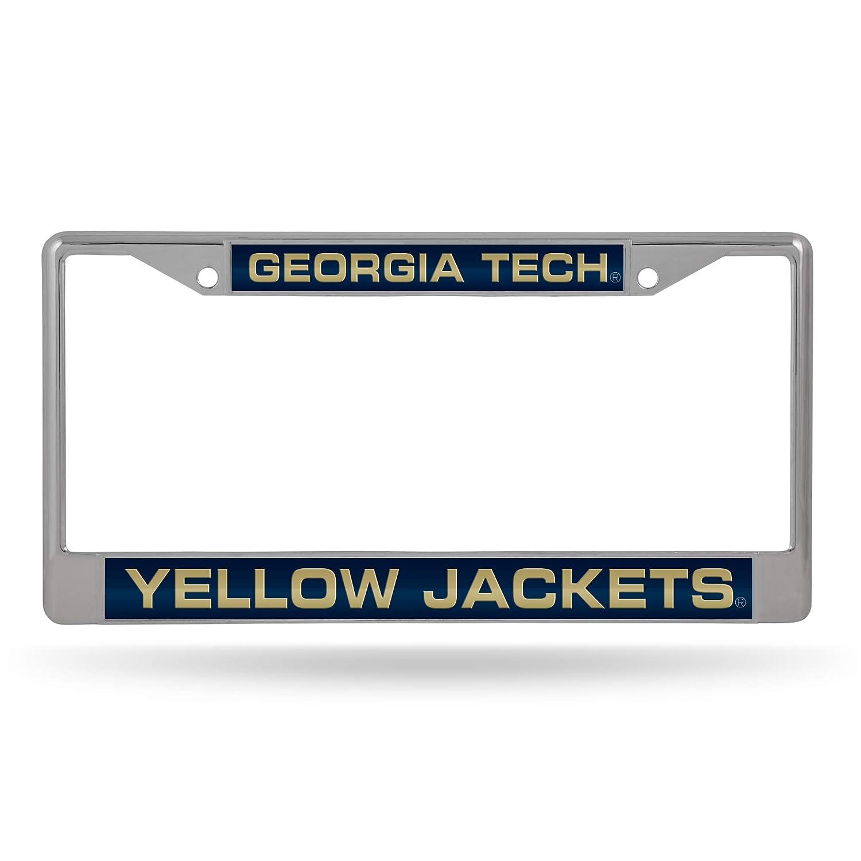Rico Industries NCAA Unisex-Adult Laser Cut Inlaid Standard Chrome License Plate Frame