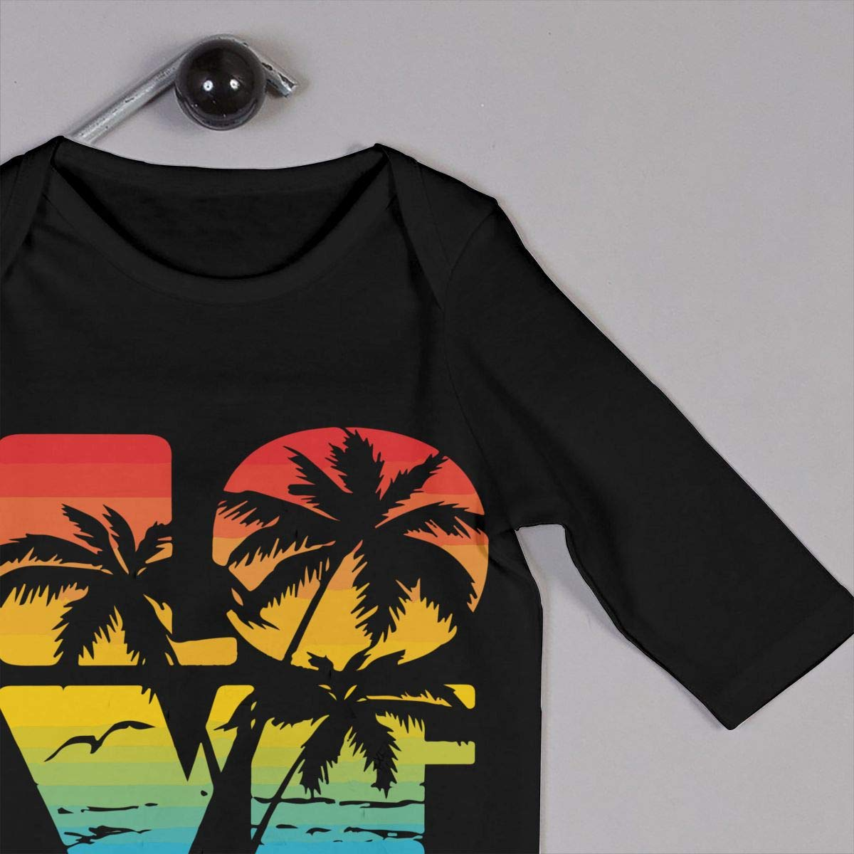 Fashion Love Hawaii Beach Jumpsuit Long Sleeve Cotton Bodysuit for Baby Girls Boys