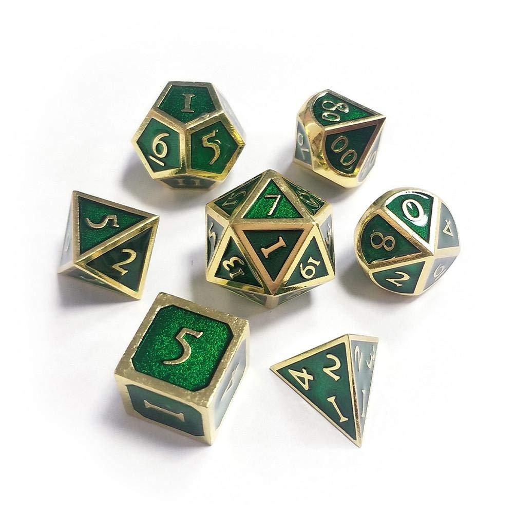 Dadi poliedrici Set D /& D Dadi Metallici Set Dungeon e Draghi smaltati Giochi di Ruolo Pathfinder DND Rpg Giochi da Tavolo MTG