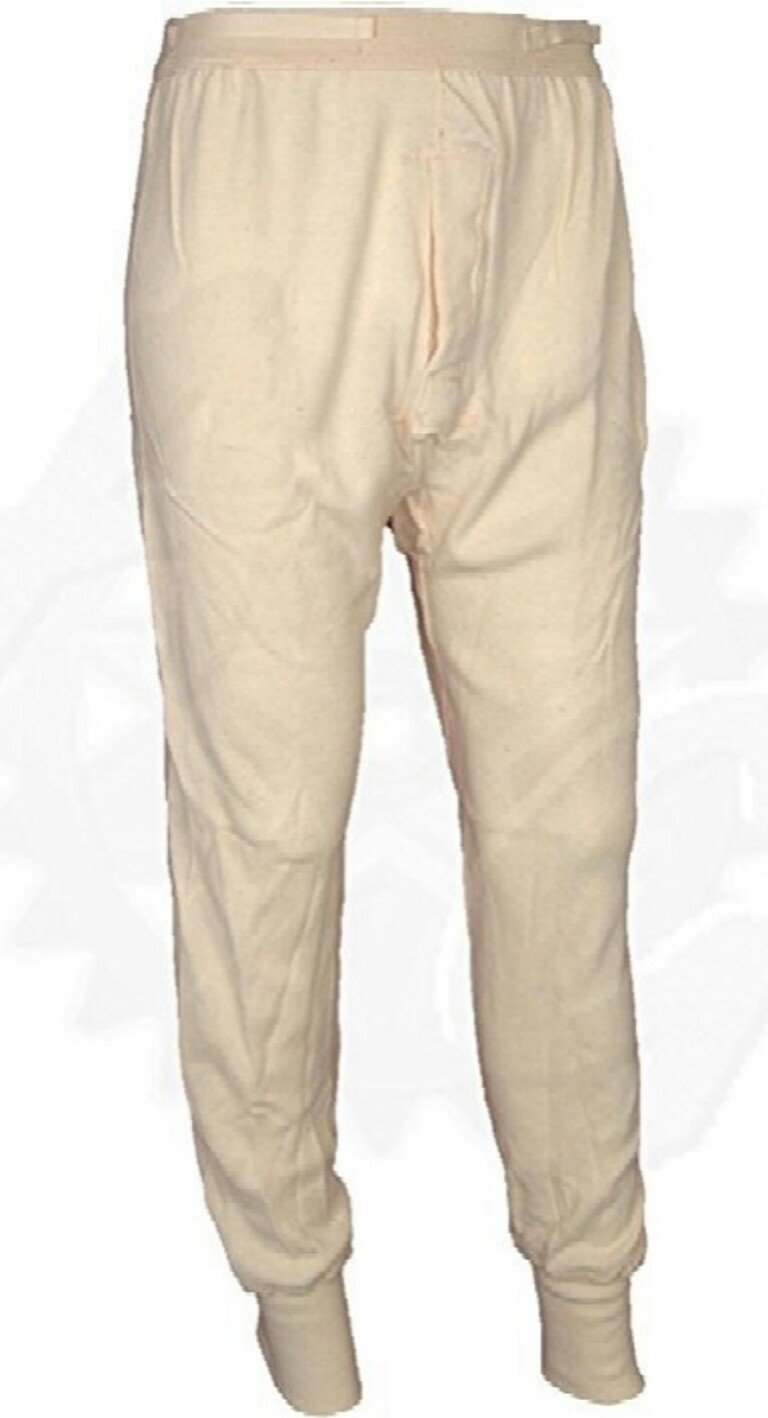 U.S. Military Wool Blend Long Underwear Pants, Thermal Bottoms, Made in USA (Small)