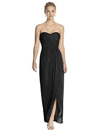 1a79cfdef280e Amazon.com: Dessy Women's Full Length Strapless Lux Chiffon Dress w/Sweetheart  Neckline by: Clothing