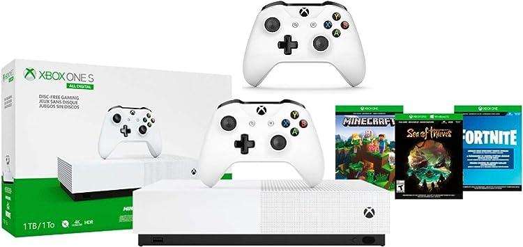 Xbox One S 1TB All-Digital Edition paquete de dos controladores ...