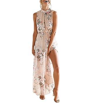 84c6de8148d8 Kangrun Summer Chiffon Dress sexy Mesh Patchwork See Through Dress High  Neck Sleeveless Dress Bodycon Maxi