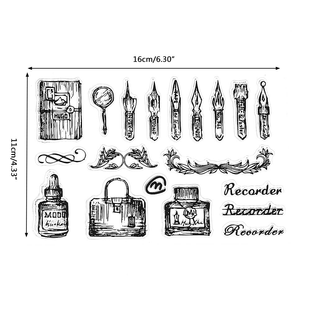 Shoresu Clear Stamp Transparent Stamp Silicone Stamp DIY Scrapbooking Embossing Paper Cards Home Decor