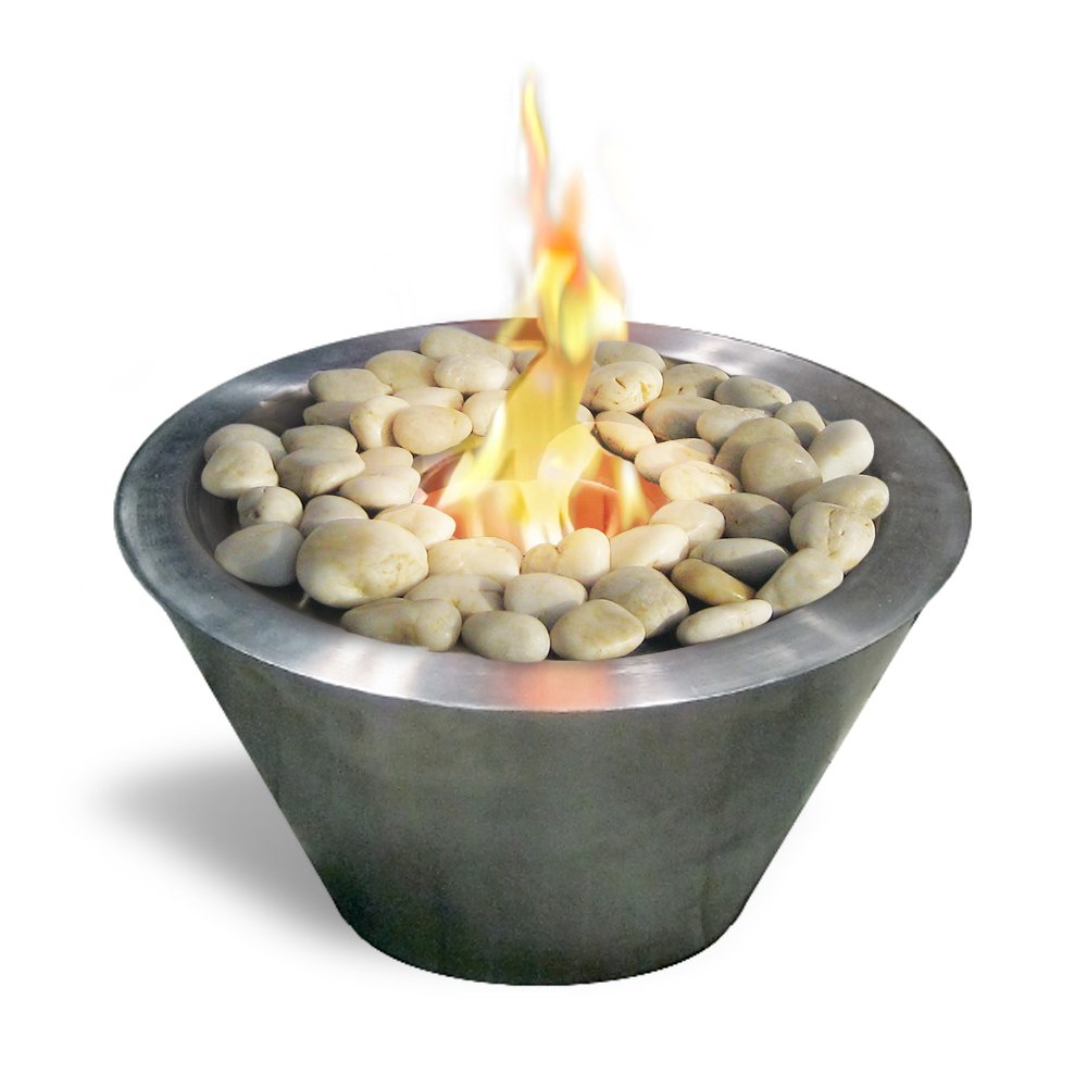 Anywhere Fireplace Table Top Ethanol Fireplace (Brushed Stainless Steel) by Anywhere Fireplace