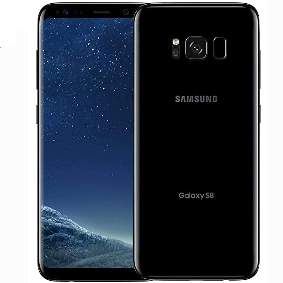 Samsung Galaxy S8 G950FD 64GB Midnight Black, Dual Sim, 5.8 inches, 4GB Ram, GSM Unlocked International Model, No Warranty