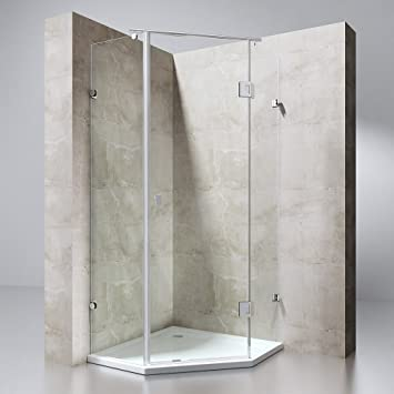 cabine de douche pentagonale