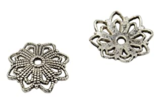 20copriperline a forma di fiore, 19mm, per bigiotteria (37887-91)
