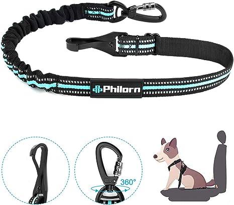 PHILORN Cinturón de Seguridad de Coche para Arnés de Perro ...