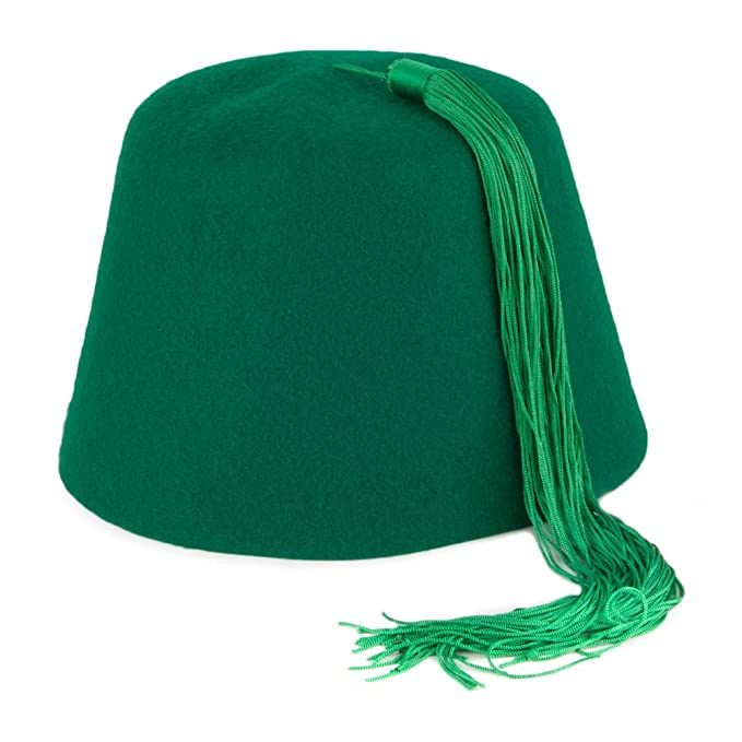 042d2bbf1615b Village Hats Green Fez with Green Tassel SMALL  Amazon.co.uk  Clothing